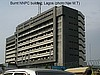 Burnt NNPC building, Lagos, Nieria (photo:Njei M.T